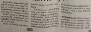Kaleva newspaper, no. 36/2014, page 3