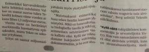 Kaleva newspaper, no. 36/2014, page 3